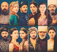 Sultan Suleyman, Hurrem Sultana, Mustafa, Mahidevran, Nigar, Rustem, Ibrahim, Hatice Sultana, Mihirmah Sultana, Taslicali Yahya, Ebusuud Effendi, Helena