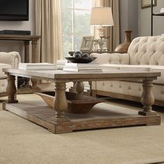 INSPIRE Q Edmaire Rustic Baluster Weathered Pine Coffee Table | Overstock.com Shopping - The Best Deals on Coffee, Sofa & End Tables