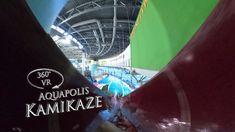 Napfényfürdő Aquapolis Szeged Kamikaze (waterslide) 360° VR POV Onride