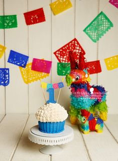 giant cupcake first birthday boy cinco de mayo theme G is one – Santa Rosa Cake smash photographer » Jeneanne Ericsson Photography