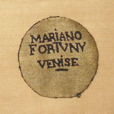 Mariano Fortuny Label on velvet.