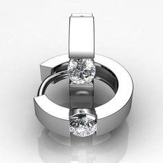 Diamond hoop #earrings #jewelry