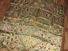 Vintage Silk Scarf VAKKO Green silk scarf with by RosieMcVintage