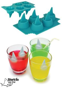Shark Fin Ice Cube Trays.. Very cute!
