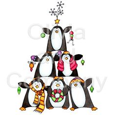Penguin Christmas Tree