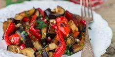 Salade aubergines et poivrons