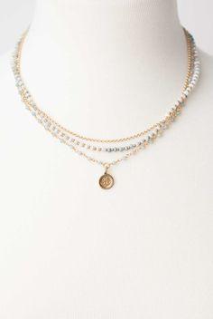 "Multistrand 17-19"""" Blue Opal Ohm Pendant Necklace"