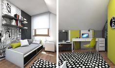 petite chambre enfant avec un tapis à motif cercle et petit lit