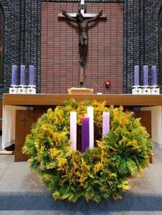 굿뉴스 가톨릭갤러리 Advent Wreath, Flower Arrangements, Diy And Crafts, Wreaths, Plants, Ideas, Altar Decorations, Craft, Advent