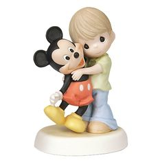 Disney Boy and Mickey Mouse Figurine by Precious Moments