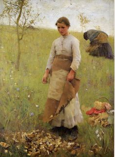 Artist - Sir George Clausen - The head of a young girl. Description from pinterest.com. I searched for this on bing.com/images