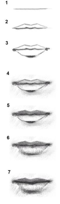 how to | draw | lips