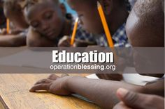 Operation Blessing International is dedicated to providing educational opportunities for those in need around the world. Through literacy programs, school improvement programs and sponsoring schools and vocational training programs, we are helping both children and adults to break out of the cycle of poverty and build a brighter future. Education can change a life. We're working together to offer humanitarian aid and make a difference around the globe.