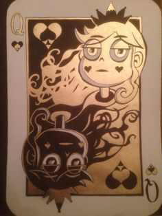 "malthuswibble:  ""Queen of Light and Darkness (SvtFoE Card Series, Queen of Hearts)  """