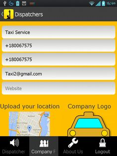 Taxi App for Dispatchers is a must-have app for dispatchers who are looking for a way to attract more clients to their business. Easily register, add your taxi company information and instantly show up on a map. Your clients will be able to easily find you on a map and contact you by phone or via email.  https://play.google.com/store/apps/details?id=com.snappii_corp.taxi_cab_app_for_dispatchers