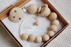 Attache sucette, perles de mastication factice clip, chaîne factice, gardien de la sucette, clip perles sensorielles, soothie clip, clip factice en bois, perles montessori