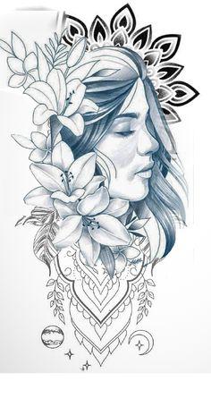 Family Tattoo Designs, Lion Tattoo Design, Mandala Tattoo Design, Native Tattoos, Leo Tattoos, Girl Tattoos, Female Tattoos, Geometric Sleeve Tattoo, Tattoo Sleeve Designs