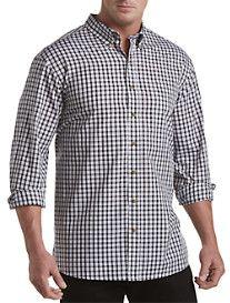 Harbor Bay® Easy-Care Small Multi Plaid Sport Shirt