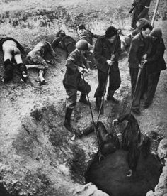 dead greek civilians pulled out of well shaft 1944 The End