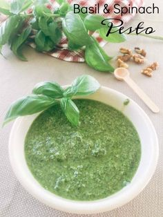 Vegan Basil Spinach Pesto recipe to be used for your pastas, sandwiches, salads and anything that you love.
