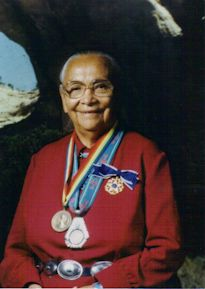 Annie Dodge Wauneka - public health activist and tribal leader of the Navajo Nation.  She became the first Native American to receive the Presidential Medal of Freedom in 1963.