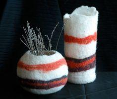 Felted Bowl / Vase Instructions PDF - Make your own Wine Cozy   Felt Vases via Etsy
