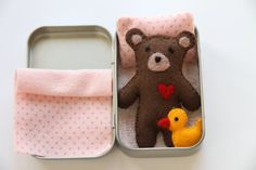TEDDY&DUCKIE in a TIN by DOLITTLECRAFTS