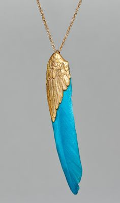 Turquoise winged necklace