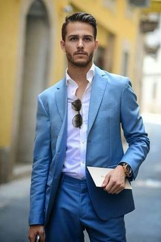 Skyblue suit summer