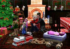 Christmas Set by Ladesire (40 meshes)  - Sims 3 Downloads CC Caboodle