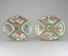 Par de pratos em porcelana Chinesa de Cantao do sec.19th, 28cm, 520 USD / 470 EUROS / 1,630 REAIS / 3,200 CHINESE YUAN https://soulcariocantiques.tictail.com