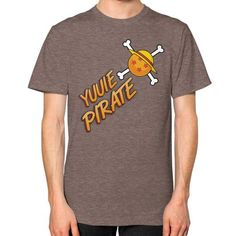 Yuuie Pirate Crew Unisex T-Shirt (on man)