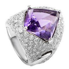 Love 1stdibs...Chimento Illusione Amethyst Diamond Pave Gold Cocktail Ring