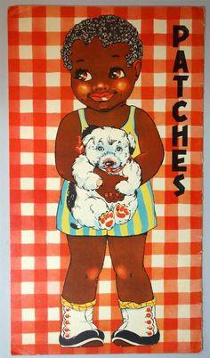 Un Cut Paper Doll Book Large Format 17 Petunia Patches 1937 Black Americana Paper Dolls Book, Vintage Paper Dolls, Paper Toys, Paper Dolls Printable, Printable Art, Printables, Vintage Playmates, African American Dolls, Paper Cutting