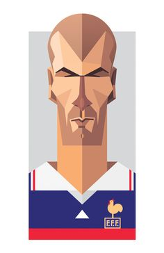 Zinedine Zidane by Daniel Nyari