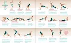 Flow & Glow Moon Salutation Yoga Routine from Yoga Journal