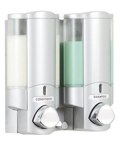 Another great find on #zulily! Satin Silver Aviva Two-Container Dispenser #zulilyfinds