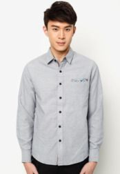 เสื้อเชิ้ต Long Sleeve With Contrast Placket     #Contrast, #Long, #Placket, #Sleeve, #เสอเชต