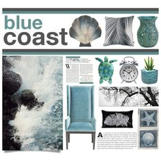 Blue Coast by artdesignstyle on Polyvore featuring polyvore, interior, interiors, interior design, ホーム, home decor, interior decorating, Pyar & Co. and La Crosse Technology
