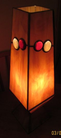 Tan Lava Lamp Stained Glass by VioletGlass123 on Etsy, $250.00