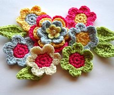 Even more crocheted gardens - a gallery on Flickr