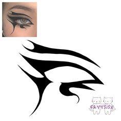 Asian Eye Makeup, Edgy Makeup, Makeup Eye Looks, Creative Makeup Looks, Unique Makeup, Eye Makeup Art, Scary Makeup, Makeup Inspo, Eyeshadow Makeup