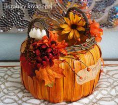 PUMPKIN CARD BASKET -- Gorgeous Wedding Card Envelope & Money Holder Fall Harvest Orange Pumpkin Reception Gift Table Decoration Centerpiece