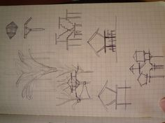 concept sketches for treehouse structure