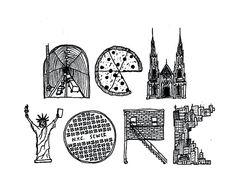new york, words, simple
