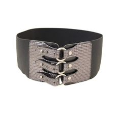 Super cute belt to cinch that tiny waist for the curvy figure.  Keep in mind,  if you're hanging over the belt...In any form or fashion,  when relaxed,  look for a hip belt, it will flatter you;  not make you look like you're in pain.