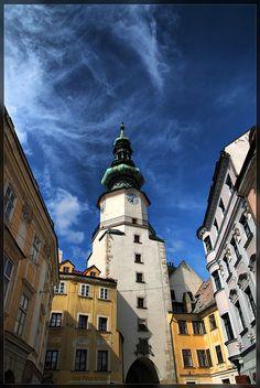 Old Town - Bratislava, Slovakia - Michalská brána Travel Around The World, Around The Worlds, Danube River Cruise, Floating Hotel, European City Breaks, Bratislava Slovakia, World Cities, By Train, Central Europe