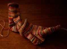 2 at once socks | how to knit 1 sock inside the other