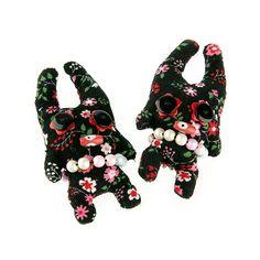 Broche muñeco negro flores