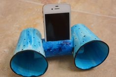Toilet paper iphone speaker.